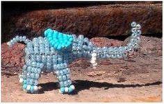 beaded 3d elephant