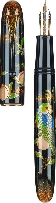 NAMIKI Maki-e Limited Edition: Parrot with Peach-my