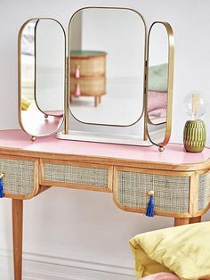 All Details You Need to Know About Home Decoration - Modern Pink Dressing Tables, Dressing Table Mirror, Retro Dressing Table, Bedroom Dressing Table, Dressing Room, Home Bedroom, Bedroom Decor, Bedrooms, Midcentury Modern