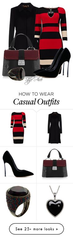 """""""Casual"""" by alice-fortuna on Polyvore featuring ESCADA, Miu Miu, Phase Eight, Casadei, Lord & Taylor and Kenneth Jay Lane"""