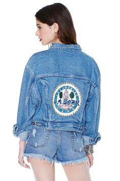 In Gear Cropped Denim Jacket