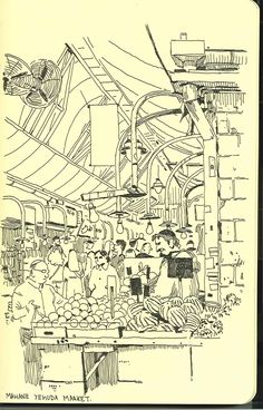 Mahane Yehuda Market. Le blog de Vincent Mahé: SKETCHBOOKS