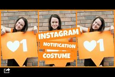 Instagram notification costume! DIY! Find out how to make it at youtube.com/thatsnat04