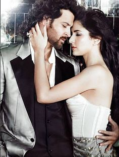Hrithik Roshan and Katrina Kaif. They look perfect together but they aren't my favorite couple on screen. They aren't yin & yang enough for me. Bollywood Stars, Bollywood Couples, Bollywood Celebrities, Bollywood News, Picture Of Katrina Kaif, Katrina Kaif Photo, Shahid Kapoor, Kareena Kapoor, Indian Film Actress
