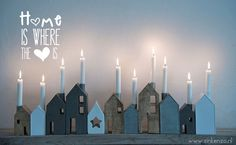 advent houses * make two for each child every year with drift wood from our travels and they will have an advent calendar once they grow up