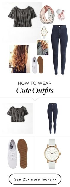 """""""Super Cute BTS outfit!"""" by briannamagallon on Polyvore featuring American Eagle Outfitters, Void, H&M and Vans"""