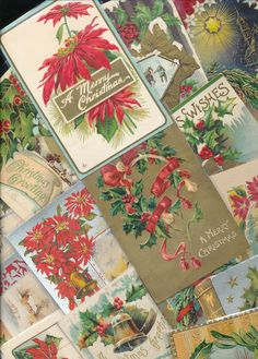 Lot of Antique Christmas Postcards