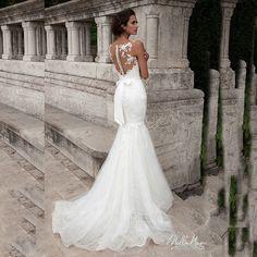 Por Encargo de la Manga Casquillo Appliqued Cordón de la Correa Transparente Vestido de Boda de la Sirena en Vestidos de novia de Bodas y Eventos en AliExpress.com | Alibaba Group