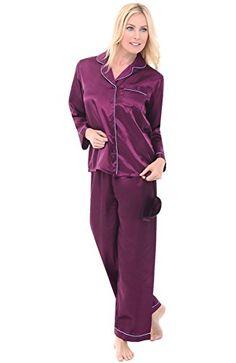 Del Rossa Women's Satin Pajamas, Long Button-Down Pj Set ... https://www.amazon.com/dp/B01DDULEI0/ref=cm_sw_r_pi_dp_x_YNc0ybEEG1RC6
