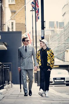 ..._Colin Firth and Taron Egerton in Kingsman: The Secret Service (2014)
