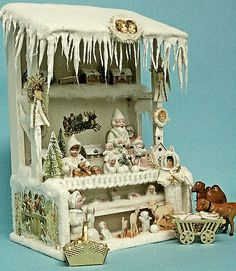 New Christmas Market Stall, inspired by a German Antique Christmas Decoration.