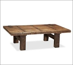 reclaimed wooden coffee table...pottery barn...maybe i can make it!?!??!?!