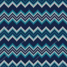 Chevron Knitted Pattern. Fair