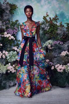 Vogue Fashion, Fashion 2020, Runway Fashion, Spring Fashion, Fashion Show, Fashion Outfits, Marchesa Fashion, Floral Fashion, Fashion Fabric