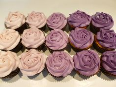So There.: Heart Shaped Ombre Frosted Pink Cupcakes