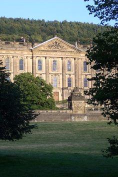 Chatsworth House Derbyshire UK. Chatsworth House's parkland, comprising 1,000 acres, is an idyllic wedding setting.