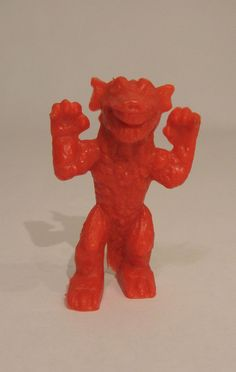 """1960's Palmer Gorgo 3"""" Red Plastic Figure  #PalmerPlastics"""