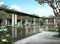 SCDA is a multi-disciplinary architectural practice led by Principal Soo K. Residential Landscaping, Residential Architecture, Landscape Architecture, Landscape Design, Architecture Design, Scda Architects, Resort Interior, Tropical Architecture, Resort Villa