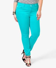 Colored Skinny Jeans | FOREVER21 PLUS - 2000020358