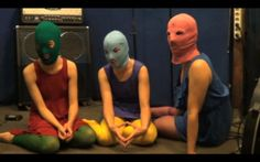 Pussy Riot: Sparrow, Squirrel and Balaklava.The feminist collective  face up to seven years in jail, Pussy Riot on Putin, 'punk prayers' and superheroes - video: Khristina Narizhnaya Link to this video    It's an astonishing tale of how three young women have brought Putin his biggest political headache yet. A story about art versus power.