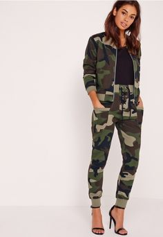 """good things come in small packages. shop our missguided petite range, for babes 5'3"""" and under.  Nothing says fierce more than a camo jacket and in a petite exclusive, just because you're small, doesn't mean you can't have it all! In a bo..."""