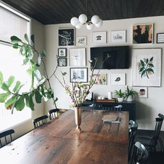 Planked ceiling painted black or dark tone // Anna Bond on Instagram