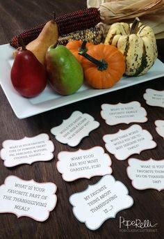 Thansgiving Printables that are so cute!! A free printable that will make any Thanksgiving dinner fun! Click to get your free printable