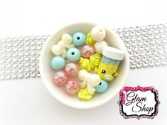 EASTER Shopkins Bracelet Kit Party Favor Small by GlamShopBeads