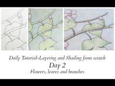 Daily Tutorial-Day 2 - Flowers, leaves and branches - YouTube