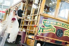 Trolly photo - Wedding at Terra Gallery, San Francisco {Photo by Bustle & Twine}
