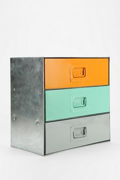 Industrial Colorblock Cabinet - Urban Outfitters