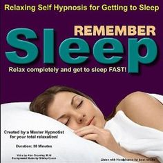 Remember Sleep - Self Hypnosis for Sleeping --- http://www.amazon.com/Remember-Sleep-Self-Hypnosis-Sleeping/dp/B0040C7V60/?tag=onestopsho0ec-20