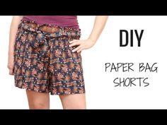 DIY como hacer unos Shorts Paper Bag - Patrones gratis