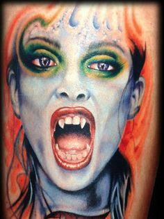 vampire tattoo on pinterest scary tattoos dracula