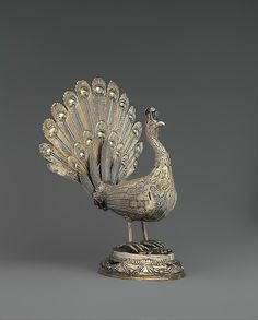 Table decoration in the form of a peacock, 1787. Hungarian. The Metropolitan Museum of Art, New York. Gift of The Salgo Trust for Education, New York, in memory of Nicolas M. Salgo, 2010 (2010.110.64a, b)