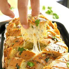 Stuffed Cheesy Bread – like cheesy onion garlic bread on crack!