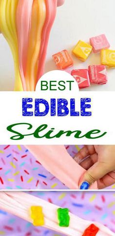 9 DIY Edible Slime Ideas – How To Make Homemade Edible Slime – Easy & Fun Recipes For Kids – Kids Craft Activities – Food Fun Crafts - Party Favors
