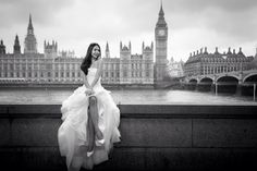 Wedding dress, wedding photo, london wedding, black &white