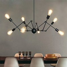 Scandinavian Happy-American Retro Industries Creative Arts spider chandelier dining room chandelier modern Scandinavian >>> For more information, visit image link.