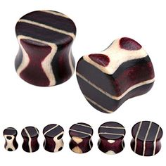 "PiercingJ Mens Womens Pair 2g 0G 00G 1/2"" 9/16"" 5/8"" Gauge Engineered Wood Double Flared Piercing Plug Ear Stretcher (RYB) PiercingJ http://www.amazon.com/dp/B00U390AQM/ref=cm_sw_r_pi_dp_UQKiwb0J6C2QX"