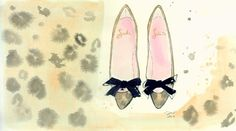 Little Parisian Bows-print from original watercolor and pen fashion illustration by Jessica Durrant