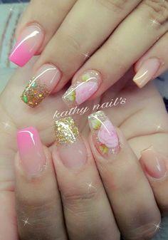 Cute Nails, Pretty Nails, Hair And Nails, My Nails, Romantic Nails, Pointed Nails, Diva Nails, Bridal Nails, Gorgeous Nails