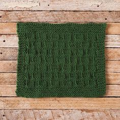 Market Day Dishcloth - Market Day is a fun textured dishcloth worked with knits and purls. It is very easy and is a good choice for beginner knitters. The high relief textures makes for a very useful dishcloth.