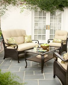 Martha Stewart Living Belle Isle Collection 4-Piece Seating...