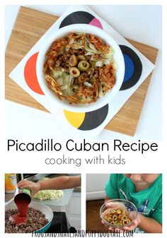 Picadillo Cuban Recipe cooking with kids- FSPDT