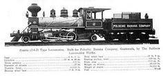 """Locomotora para el """"Ferrocarril Verapaz"""", Guatemala."""