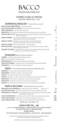 Bacco Italian Restaurant   Fine Italian Dining