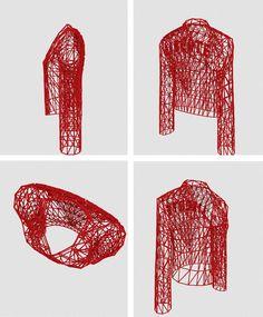 """3D rendering of my 3D """"LIBERTE"""" jacket"""