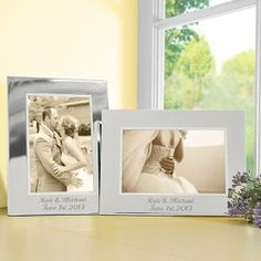 Personalized Beaded Silver Picture Frame - Gifts For The Couple - Gifts   HomeDecorators.com