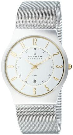 $88.00 Skagen Men's 233XLSGS Slimline Mesh Watch  From Skagen   Get it here: http://astore.amazon.com/ffiilliipp-20/detail/B0007X9EZW/181-6547156-0918651
